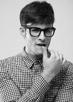too adorable i want to eat him. #men #geek #specs #black #white #fashion #suave #swag #hipster