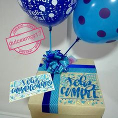 Detalles personalizados  @dulceamor17 Hermosos y deliciosos desayunos, meriendas y anche...   Yooying Birthday Box, Birthday Gifts, Happy Birthday, Birthday Traditions, Creative Box, Diy Party, Balloons, Presents, Lol
