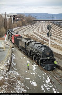 N&W 1218 Norfolk & Western Steam 2-6-6-4 at Roanoke, Virginia.