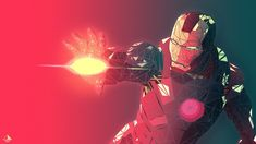 General 2048x1152 fractal Iron Man red simple background