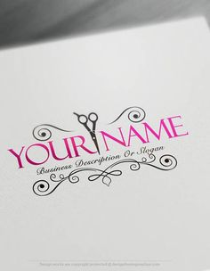 Exclusive Logo Design: Hair salon Logo Images + FREE Business Card