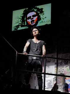 American Idiot - Billie Joe Armstrong. Fabulous son of rage and love. We were in the audience and met BJA on the night they won the Grammy.