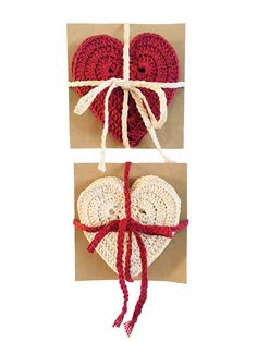 Heart Coaster Set of 4 - Vintage Crochet Hearts - Homeware - Drinkware - Valentines - Hearts - Cute - Practical Gifts - Handmade - Crochet Valentines Hearts, Valentine Day Gifts, Christmas Bunting, Christmas Decorations, Crochet Penguin, Crochet Hearts, Bunting Garland, Practical Gifts, Paper Beads
