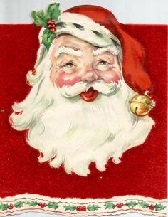 Vintage Santa Claus Christmas card digital download printable instant image by…
