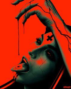 Dark art for our inner demons — Communion by Aaron Pinto Dark Creatures, Satanic Art, Evil Art, Arte Cyberpunk, Dark Art Drawings, Demon Art, Arte Horror, Creepy Art, Dark Photography