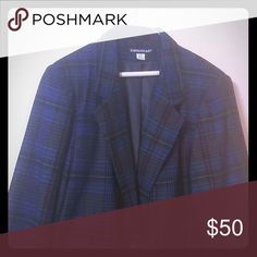 End of summer sale.  Savanna brand Blazer Dark blue plaid blazer. New never worn. Savanna Jackets & Coats Blazers