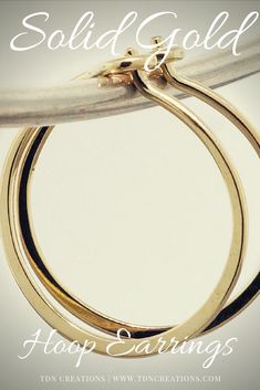 Solid Gold Hoop Earrings. Great for any occasion, even for every day wear.