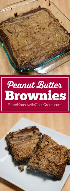 These peanut butter brownies are delicious! They are also easy to make and if you have a peanut allergy there is a great substitute!