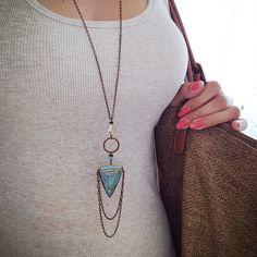 Bohemian Beach Long Boho Necklace by PinkSoFoxy on Etsy, $65.00