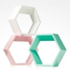 Adairs Kids Millie Hexagon Shelf, kids shelves, shelving for kids Dream Room Cute Home Decor, Kids Decor, Extra Storage Space, Storage Spaces, Scandinavian Kids Rooms, Adairs Kids, Hexagon Shelves, Guest Room Office, Little Girl Rooms