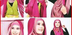 30 Tutorial Hijab Pashmina Paris Dua Warna / Dua Kerudung Terbaru 2016