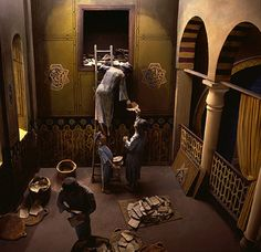 Torah scrolls, manuscripts, books and various documents stored in the attic of Ben Ezra Synagogue in Fostat (ancient Cairo diorama) . https://www.studyblue.com/notes/note/n/chapter-8-early-jewish-early-christian-and-byzantine-art/deck/52312