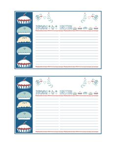 Free Printable Recipe Cards - The Cottage Market