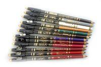 Envío gratis !! 12pcs / set 12 colores eyeline lápiz vienen con cuchillo shimmer lápiz de ojos mate