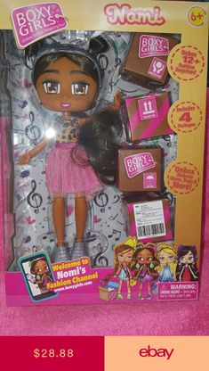 Boxy Girls  BROOKLYN 8 inch Doll With 4 Surprise Packages By jay@play