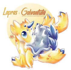 Lapras x Galventula by on DeviantArt Pokemon Mashup, Poke Pokemon, Pokemon Mix, Pokemon Fusion Art, Mega Pokemon, Pokemon Craft, Pokemon Eevee, Pokemon Fan Art, Pokemon Stuff