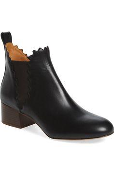 ef49404fb213 CHLOÉ Scallop Chelsea Boot (Women).  chloé  shoes  boots Chelsea Boots