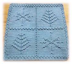 Flakes'n Trees Cloth pattern by Alli Barrett
