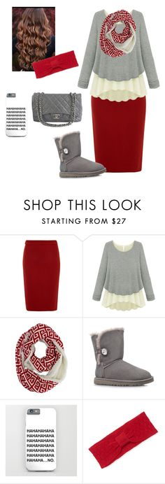 """""""winter is approaching!"""" by apostolic-country-girl-98 ❤ liked on Polyvore featuring Lanvin, UGG Australia, Qi Cashmere and Chanel"""