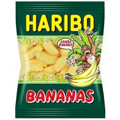 Haribo Bananas Gummi Candy - Pack of 6 X 200 g Haribo