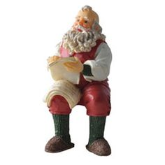 Sitting Santa - Resin Doll - Santa is Part of Houseworks Collection of Resin Dolls - Dollhouse Toys, Dollhouse Miniatures, Bedroom Accessories, Doll Accessories, Miniature Furniture, Dollhouse Furniture, Doll House People, Santa Doll, Decorating Supplies