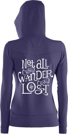 Not All Who Wander Are Lost  Women Zip Hoodie by ElegantTees, $34.99