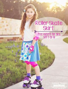 Learn how to sew a circle skirt with this adorable and free printable circle skirt pattern for girls in sizes 3 to 10!