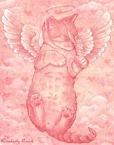 Cute Angel Kitten of Love by enchantedgal.deviantart.com