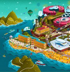 Megafon Sochi - Andrew Lebedinsky | Illustrator