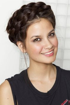 Gorgeous braided halo updo hairstyle