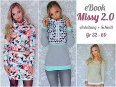 ****Ebook Missy** Missy... Hoodie mal anders ! ** Missy ist ein Hoodie mit vielen Varianten. Ihr könnt zwischen geteilter und ungeteilter Version, Kapuze oder Kragen wählen. Des weiteren...