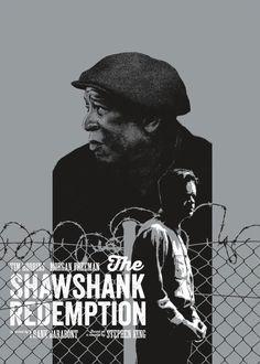 """The Shawshank Redemption"" Variant by Andrew Swainson - Hero Complex Gallery Minimal Movie Posters, Cinema Posters, Retro Posters, Norman Rockwell, Great Films, Good Movies, Die Verurteilten, Monet, Everything Film"