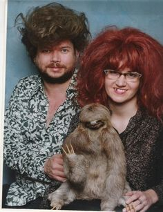 Oh my god...what??? And is that a sloth? This can't be real!!