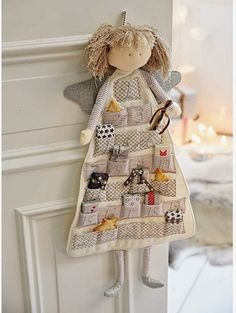 25 Unique Fabric Crafts To Sell Gift Ideas : Show You Creativity Now. hand made - Diy and crafts interests Angel Crafts, Crafts To Sell, Diy And Crafts, Christmas Crafts, Christmas Decorations, Christmas Ornaments, Christmas Sewing, Christmas Diy, Advent Calenders