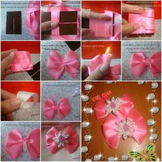 How to make flowers made of paper step by step diy tutorial how to make beginner flower bow step by step diy tutorial instructions mightylinksfo
