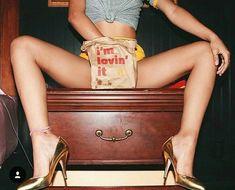 I'm Lovin' it, she lovin' it, we lovin' it - A girl eating McDonalds photoshoot in heels and underwear Estilo Hip Hop, Mellow Yellow, Boudoir Photography, Photography 101, Chevrolet Logo, Michael Jackson, Orange County, Playboy, At Least