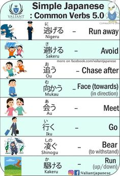Valiant Japanese: Common verbs 5