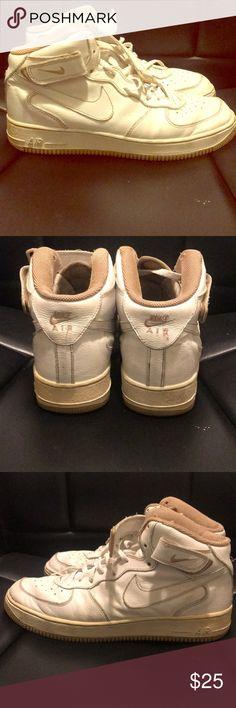 cedee9178947 Nike Air Force 1 Mid White Khaki No box