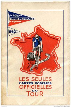 SPORT - CYCLISME - SERIE OFFICIELLE du TOUR de FRANCE 1950 - VELO - BICYCLETTE…