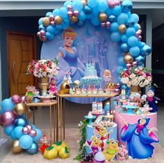 16th Birthday Decorations, Princess Birthday Party Decorations, First Birthday Party Themes, Disney Princess Birthday, Cinderella Birthday, Balloon Decorations Party, Birthday Parties, Cinderella Theme, Ideas