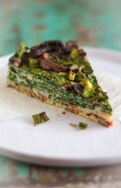 Spinazie gerookt spek hartige taart recept