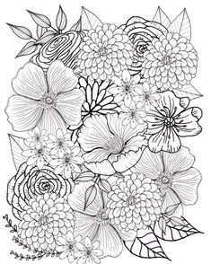 Blumen Sie Malvorlagen Blumen Malvorlagen Seite Erwachsene