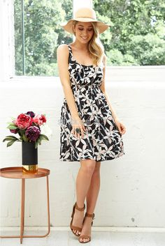 Chasing Kate Dolce Dress in Lily Print | St. Frock