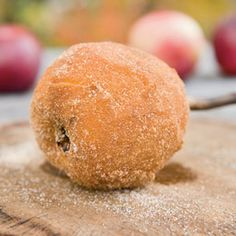 Pie On A Stick.. peeled apples rolled in sugar and cinnamon, toasted over a campfire