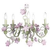 Found it at Wayfair - Jubilee Collection 5 Light Leaf and Flower Chandelier