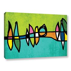 "ArtWall 'Vibrant Colorful Abstract 1' by Irena Orlov Painting Print on Wrapped Canvas Size: 8"" H x 10"" W x 2"" D"
