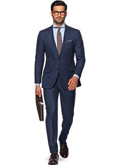 Suit Blue Stripe Sienna P4700   Suitsupply Online Store