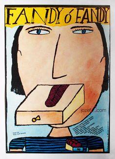 Fandy o Fandy Illustrated Movie Poster by Jiří Šalamoun #VintageMoviePosters | Made in Czechoslovakia, 1983 | 80s Movie Posters | jozefsquare.com