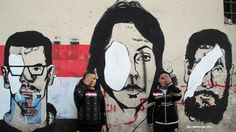 "Wall of eyes lost - Revolution Graffiti – Street Art of the New Egypt"""