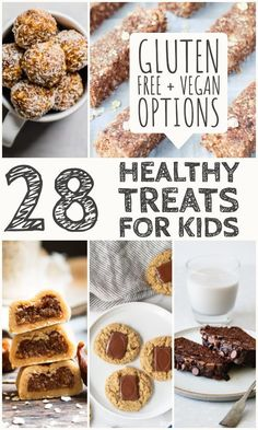 28 Gluten free After School Treats for Kids. These delicious gluten free treats are all secretly healthy (or healthier). These kid friendly snacks are a great way to treat your kiddos without all the sugar. Most of these recipes are also vegan! Best Gluten Free Recipes, Allergy Free Recipes, Gluten Free Snacks, Vegan Recipes, Kid Recipes, Vegan Desserts, Vegan Food, Baking Recipes, Granola Bar Recipe Easy